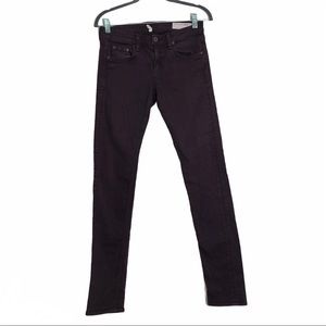 Rag and Bone The Dre deep red/purple skinny jeans